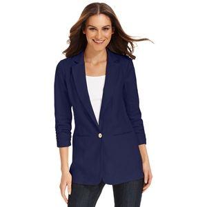Michael Michael Kors Navy Blue Linen Blazer